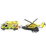 Krankenwagenset + Hubschrauber, mit Licht und Ton