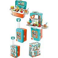Küche mit Zubehör im Koffer, batteriebetrieben - Kinderküche