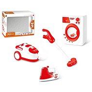 Haushaltsgeräte batteriebetrieben (Bügeleisen, Waschmaschine, Staubsauger) - Spielzeug