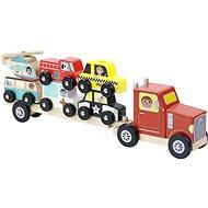 Vilac Holzlastwagen mit Einsatz-Spielzeugautos - Holzspielzeug