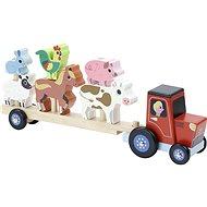 Vilac Holztraktor mit Tieren zum Zusammenbauen - Holzspielzeug