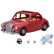 Sylvanian Families rotes Reiseauto mit Kinderwagen und Autositz - Figur