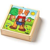 Puzzle Woody Puzzle Kleiderschrank Dog 18 Teile - Puzzle