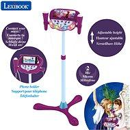 Lexibook Frozen Verstellbarer Ständer mit 2 Mikrofonen, Spracheffekten, Licht und Lautsprecher - Musikspielzeug
