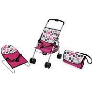 Hauck Reiseset pink, Tupfen - Zubehör für Puppen