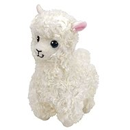 Beanie Babies LILY, 24 cm - cremefarbenes Lama