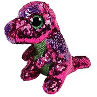 BOOS Flippables STOMPY, 15 cm - rosafarbener-grüner Dinosaurier mit Pailletten