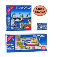 Siku World - Containerschiff + Geschenk - Metall-Model