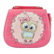 Handtasche Eulen-Deisgn rosafarben - Handtasche