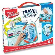 Kreativset Spielset Maped Travel Board - Spiele und Zeichnungen mit Tieren