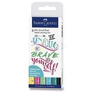 Faber-Castell Tuschestifte Pitt Artist Pen - 6 Farben - Marker