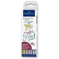 Faber-Castell Pitt Artist Pen Metallic - 4 Farben - Marker