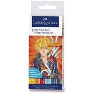 Faber-Castell Pitt Artist Pen Manga Shonen Marker, 6 Farben - Marker
