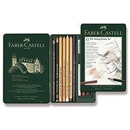 Faber-Castell Pitt Monochrome Graphitstifte in einer Blechdose, 12 Stück - Grafitstift