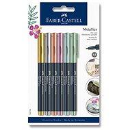 Faber-Castell Metallics Marker, 6 Metallic-Farben - Marker