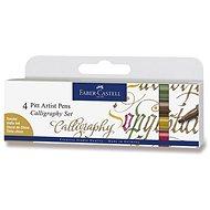 Faber-Castell Pitt Artist Pen Caligraphy - 4 natürliche Farben - Marker
