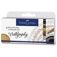 Faber-Castell Pitt Artist Pen Caligraphy - 6 Farben - Marker