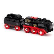 Brio World 33884 Dampflokomotive mit Batterie und Wassertank - Modelleisenbahn