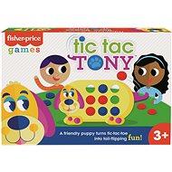 Gesellschaftsspiel Tic Tac Toe mit Hund Tony
