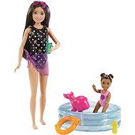 Barbie Babysitter mit Pool - Puppen
