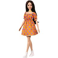 Barbie Model - oranges Kleid mit Tupfen - Puppen