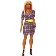 Barbie Model - kariertes Kleid mit gelber Niere
