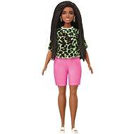 Barbie Modell - T-Shirt mit Neon-Leopardenmuster mit rosa Shorts