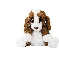Hund / Hund sitzen beim Aufwärmen - Stoffspielzeug