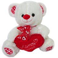 Teddybär mit Schleife und Herz - 35 cm - Teddybär
