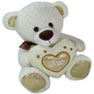 Teddybär mit Herz - beige - 23 cm - Teddybär