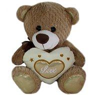 Teddybär mit Herz - braun - 23 cm - Teddybär