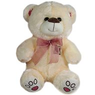 Teddybär mit Schleife beige - 40 cm - Teddybär