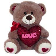 Teddybär mit Herz Love - 30 cm - braun - Teddybär