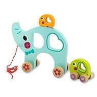 Jamara Holzspielzeug - Kidiwood Elefant - Nachziehspielzeug