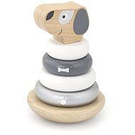 Holzpyramide - Hund - Holzspielzeug