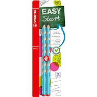 STABILO EASYgraph R HB Bleistift Blau - 2 Stück im Blister - Grafitstift