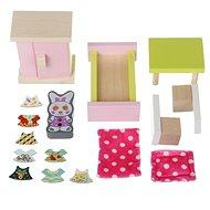 Cubika 12640 Zimmereinrichtung - Holzmöbel für Puppen - Holzspielzeug