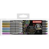 STABILO Pen 68 Metallic 6 pcs Plastic Case - Felt Tip Pens