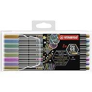 STABILO Pen 68 Metallic 8 pcs Plastic Case - Felt Tip Pens