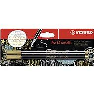 STABILO Pen 68 Metallic 2 pcs Gold in Blister