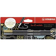 STABILO Pen 68 Metallic 2 pcs, Gold and Silver in Blister