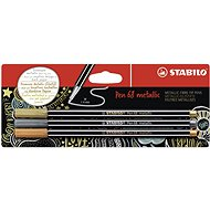 STABILO Pen 68 Metallic 3 pcs, Gold, Silver and Copper in Blister