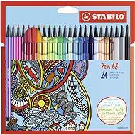 STABILO Pen 68 24 pcs Cardboard Case - Felt Tip Pens