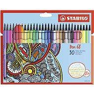 STABILO Pen 68 30 pcs Cardboard Case - Felt Tip Pens