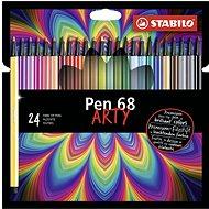 """STABILO Pen 68 24 pcs cardboard case """"ARTY"""" - Felt Tip Pens"""