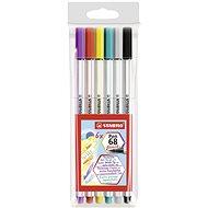 STABILO Pen 68 Brush 6 pcs Case - Felt Tip Pens