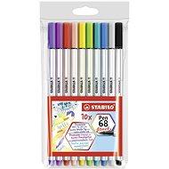 STABILO Pen 68 Brush 10 pcs Case - Felt Tip Pens