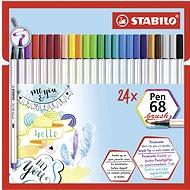 STABILO Pen 68 brush 24 pcs case - Felt Tip Pens