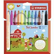 STABILO Trio Jumbo 12 pcs Case - Felt Tip Pens