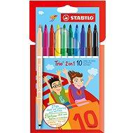 STABILO Trio 2-in-1 10 pcs Cardboard Case - Felt Tip Pens